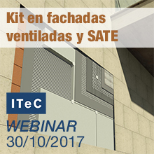 Webinar sobre el concepto kit en fachadas ventiladas y SATE