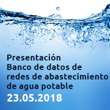 Presentación Banco de datos de redes de abastecimiento de ag