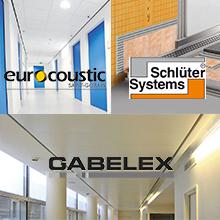 Los productos de las empresas Saint-Gobain Eurocoustic, Schlüter Systems y Saint-Gobain Gabelex se incorporan al BEDEC