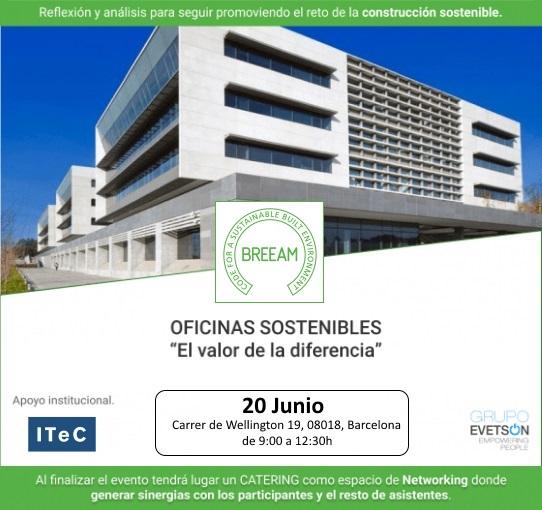 Jornada BREEAM<sup>®</sup> «Oficinas sostenibles, el valor