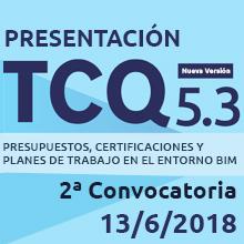 Segunda convocatoria Jornada Presentación TCQ 5.3