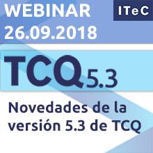 """26 de septiembre: Webinar """"Novedades de la versión 5.3 de TCQ"""""""