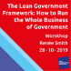 Workshop The Lean Government Framework