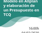 Nuevo año y nuevo webinar: Modelo en Allplan y elaboración de un Presupuesto en TCQ