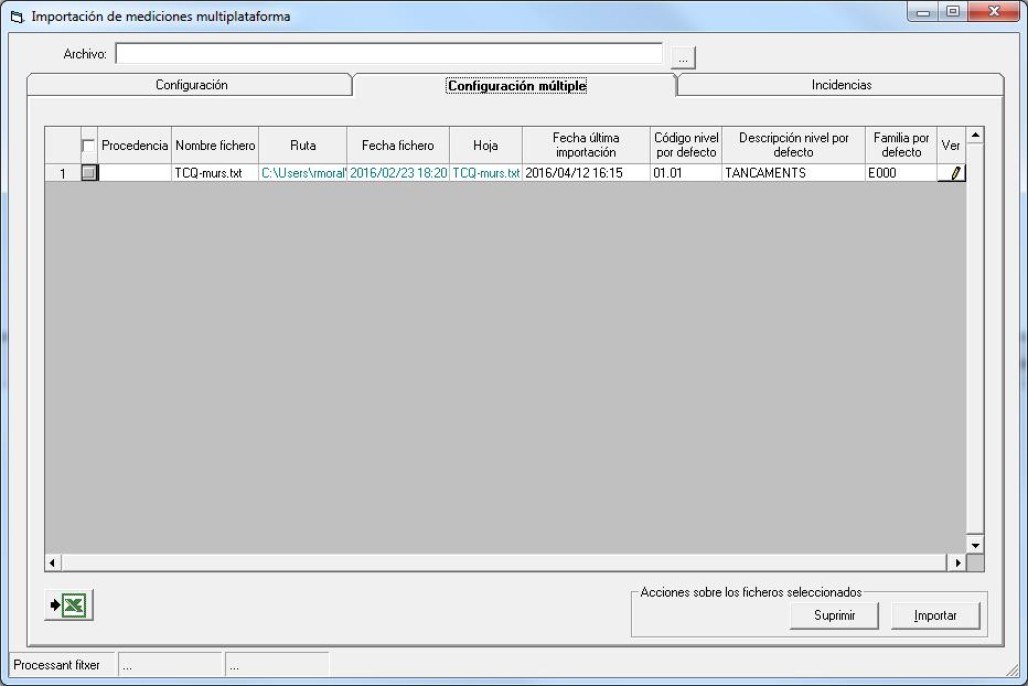 Detalle configuración múltiple